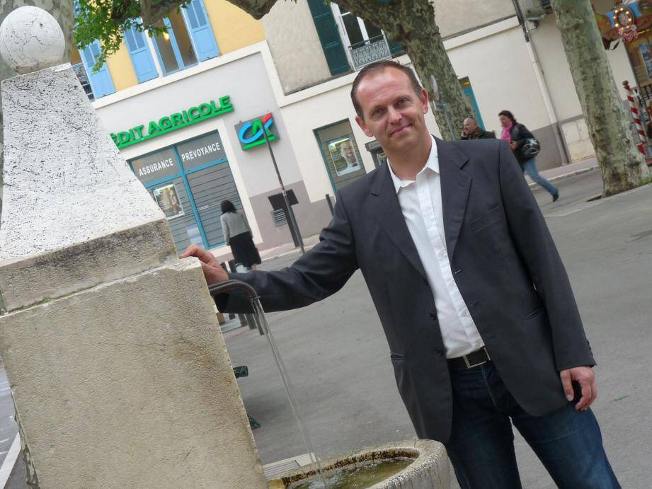 Philippe Perret, ici en 2013, lors de la campagne des municipales.
