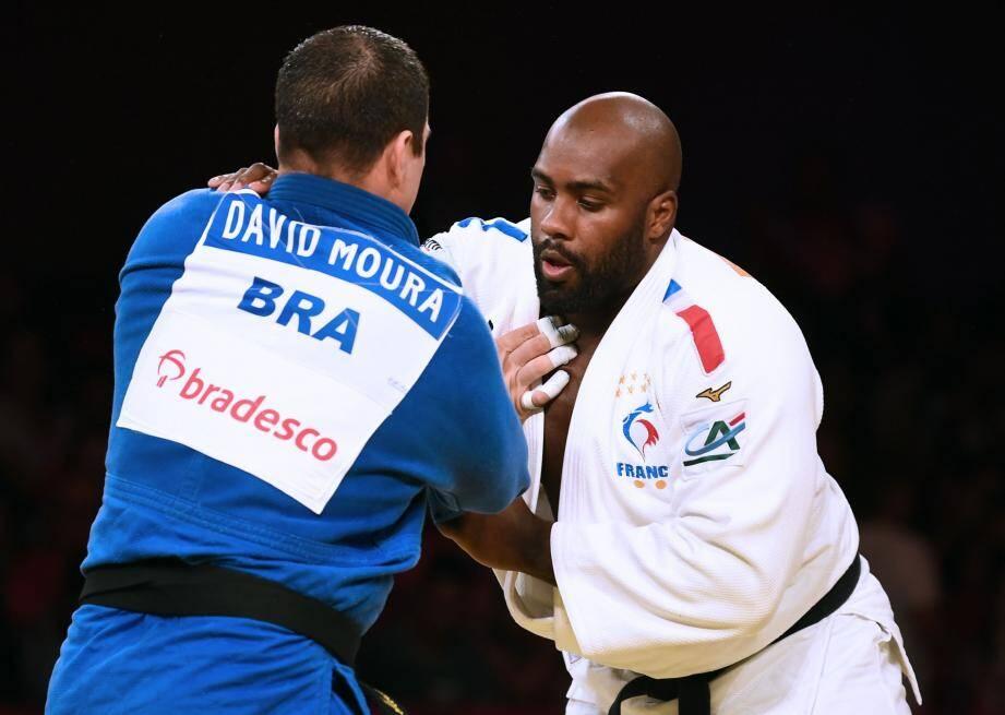 Riner a battu le Brésilien Moura en finale.(Ph. AFP)
