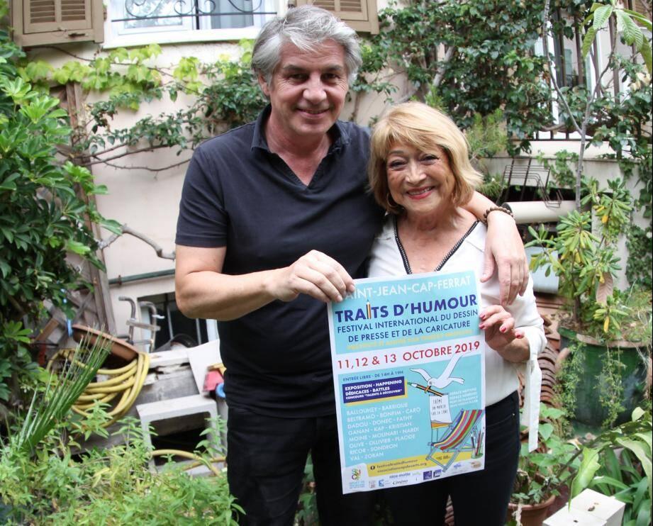 Olive et Sabine Demarte, organisateurs du festival.