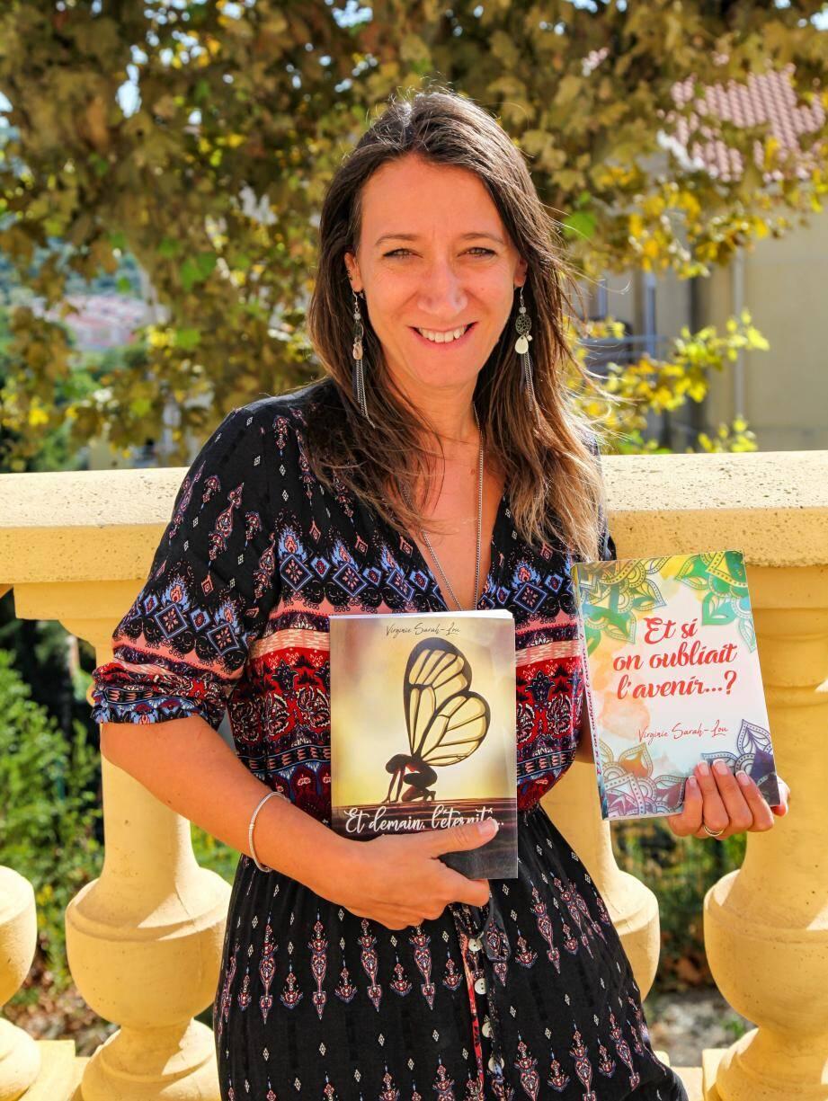 Virginie Sarah-Lou présentera ses deux premiers romans à la médiathèque ce samedi.