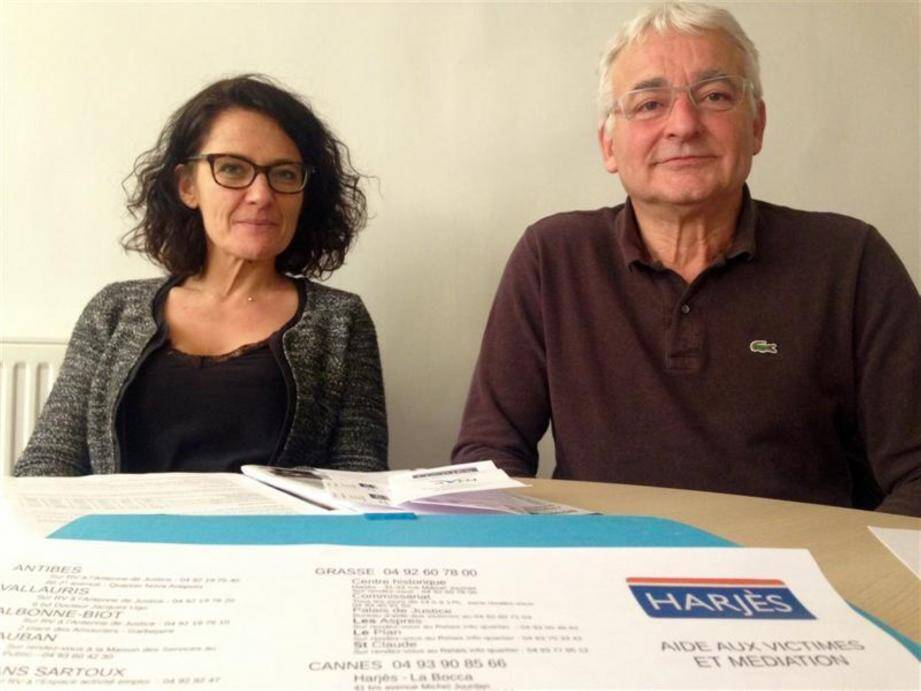 Alexia Krisanaz (à gauche) et Bernard Seguin ont évoqué les multiples activités de l'association.(photo archives Nice-Matin)