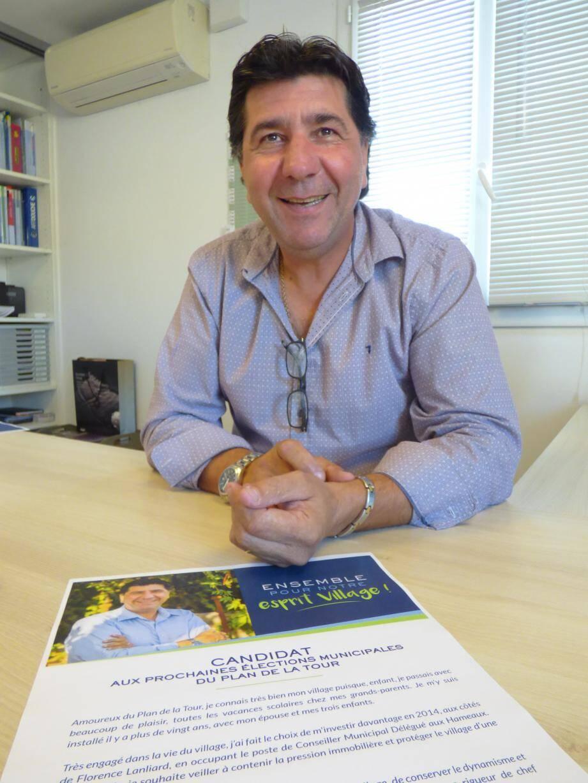 Laurent Giubergia est le premier candidat à la succession (pas encore officielle) du maire Florence Lanliard dont il entend assurer la continuité des convictions et des priorités.