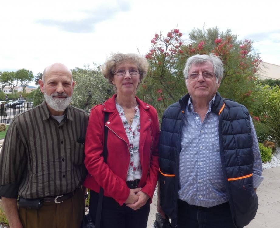 Trois des quatre derniers adhérents à la dernière réunion de concertation.