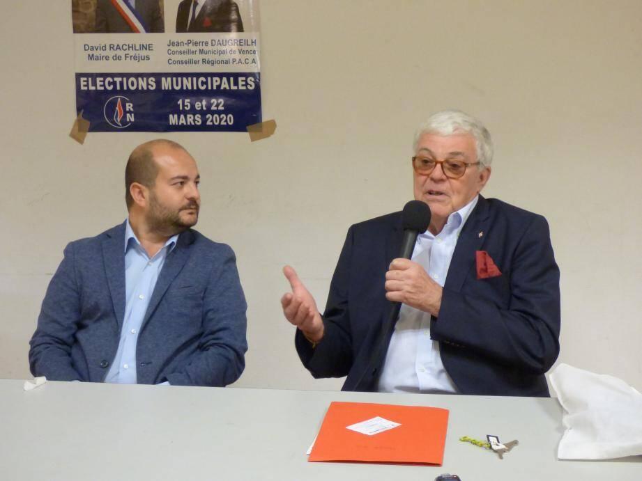 Jean-Pierre Daugreilh soutenu hier par David Rachline.
