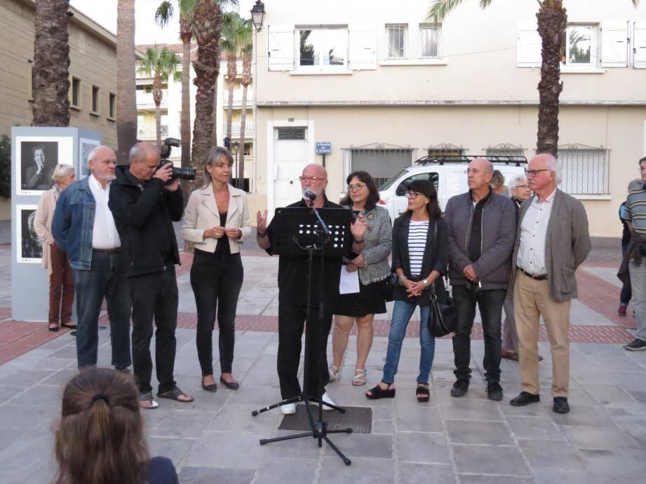 L'exposition a été inaugurée vendredi soir, place du théâtre Galli.