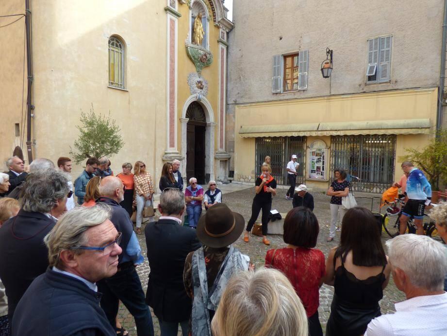 Catherine Le Lan en campagne dès maintenant, contrairement à beaucoup d'autres maires.(L. Q.)
