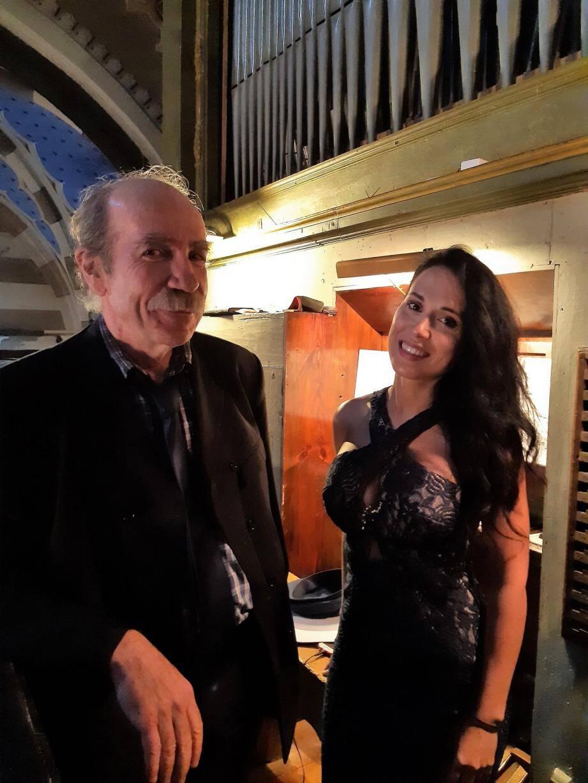 Denis Fremin, Julia Heras, chacun dans sa spécialité, les deux artistes ont fait vibrer l'auditoire.