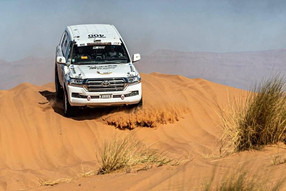 Christian Lavieille, Jean-Pierre Garcin et le Toyota Land Cruiser du team Autobody, reçus « quatre sur cinq » dans la catégorie Open...