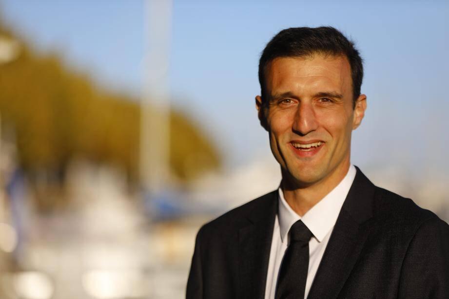Jean-Noël Falcou, à Golfe-Juan, « candidat au mandat de maire », pour la deuxième fois.