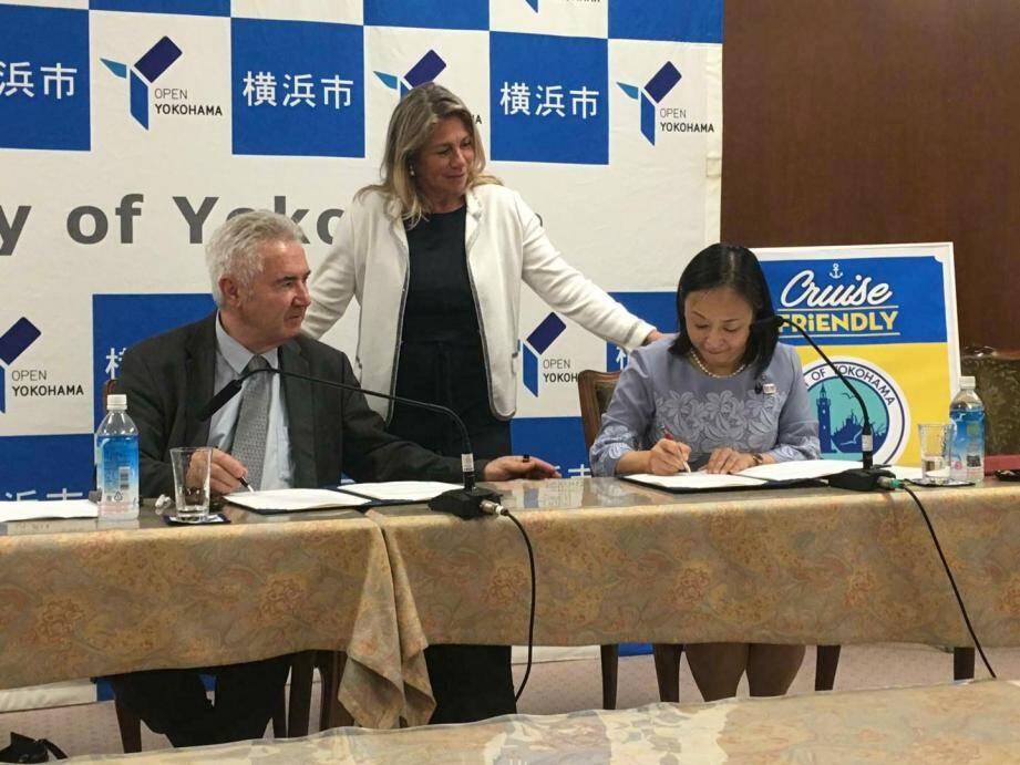 Jacques Bianchi, président de la CCI du Var, a signé vendredi dernier, au Japon, un accord inédit avec Yuri Arakida, adjointe au maire de Yokomama, en présence de Caroline Pozmentier, vice-présidente de la Région.