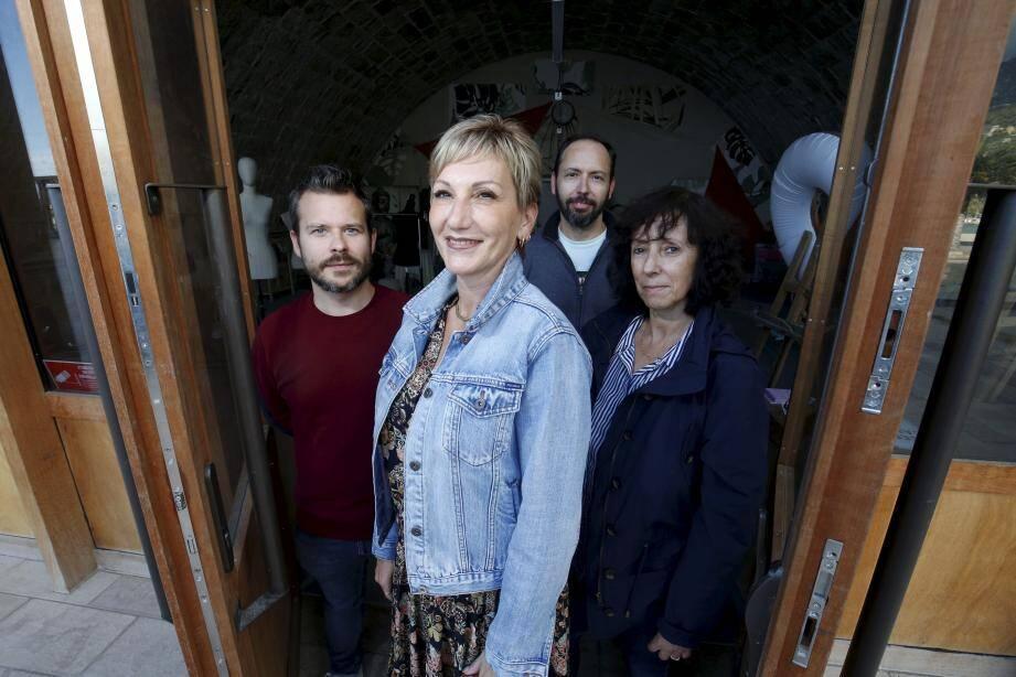 Mathieu Polidori, Sandra Paire, Cédrick Hérisson et Rose-Marie Huyard.