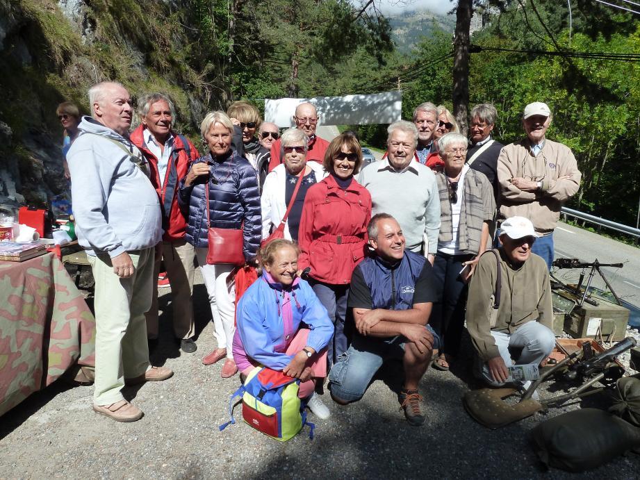 Magnifique balade pour les membres de l'association mentonnaise dans la vallée de la Roya. (DR)