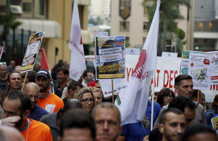 D'après la police, ils étaient 670 à manifester hier dans les rues de Monaco.