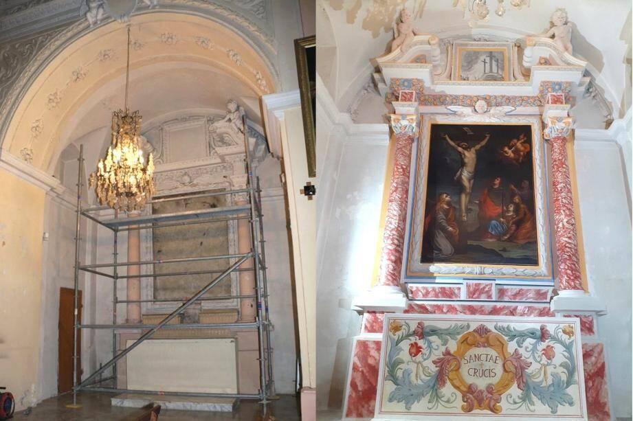 Avant et après la restauration, un magnifique travail de Mia Articuci. (DR)