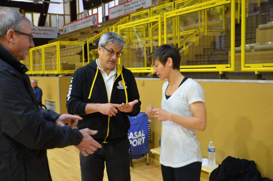 Coach Daniel Paquet.