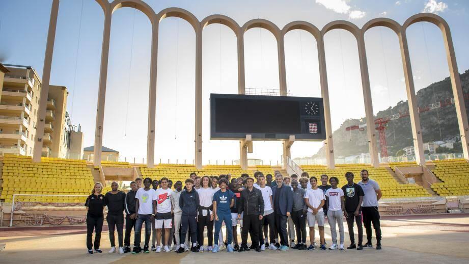 Près de 40 jeunes du centre de formation de l'AS Monaco ont participé à cet échange avec la Licra, ce mardi au stade Louis-II.