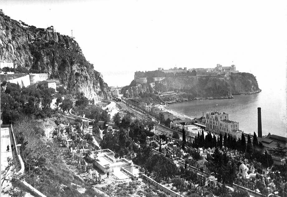 Le cimetière de Monaco en 1917.(DR)