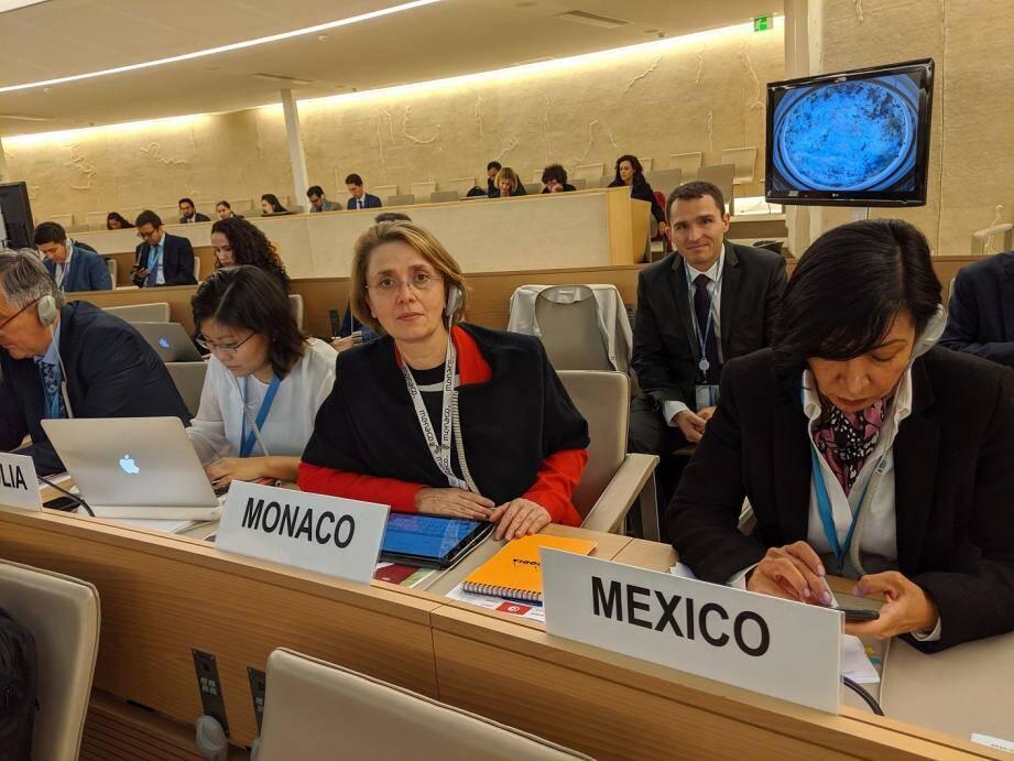 Carole Lanteri, ambassadeur auprès de l'Office des Nations Unies à Genève a représenté Monaco lors de la réunion de la convention contre la torture.(DR)