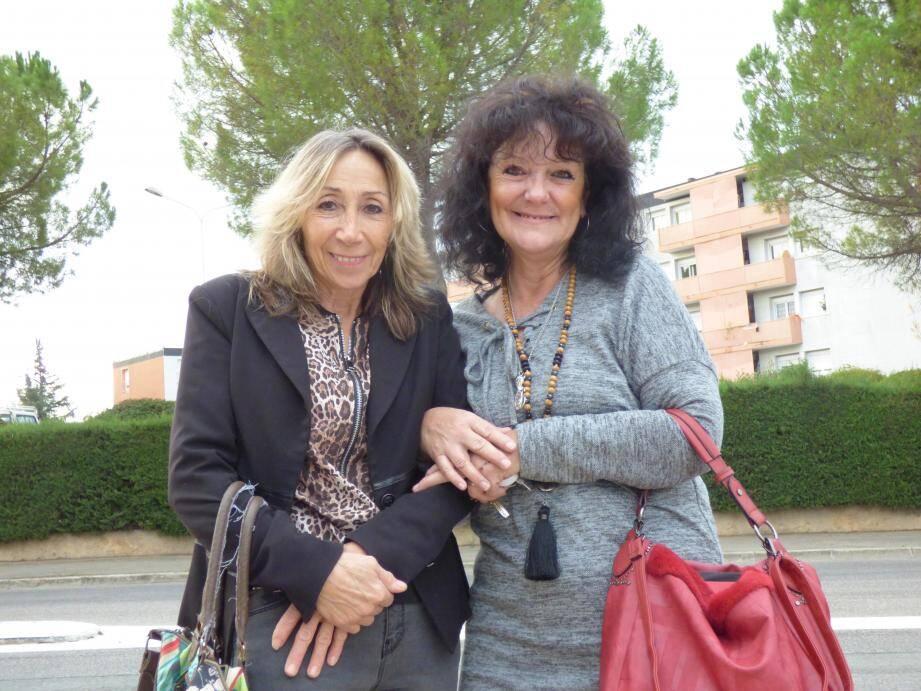 Florence Aillet, présidente de l'AVAPV (à g.) avec la secrétaire Françoise Pleven.