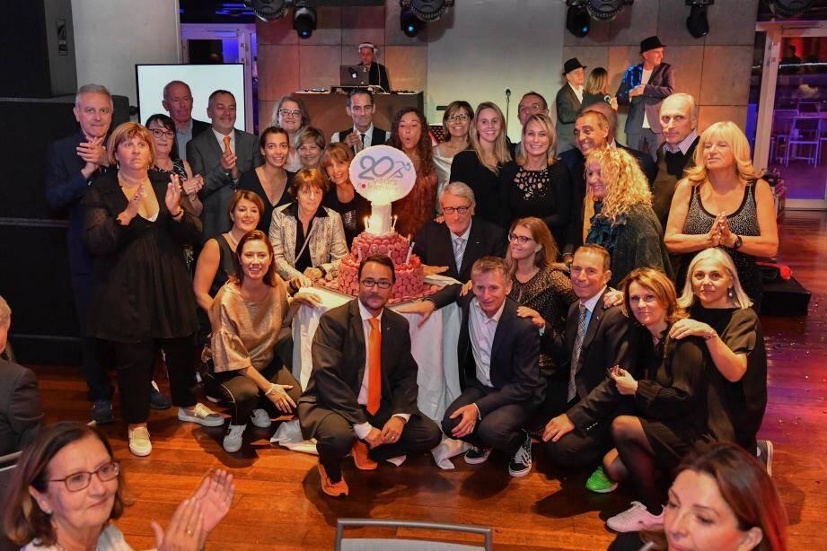 L'équipe s'est retrouvée pour célébrer l'anniversaire au Grimaldi Forum.