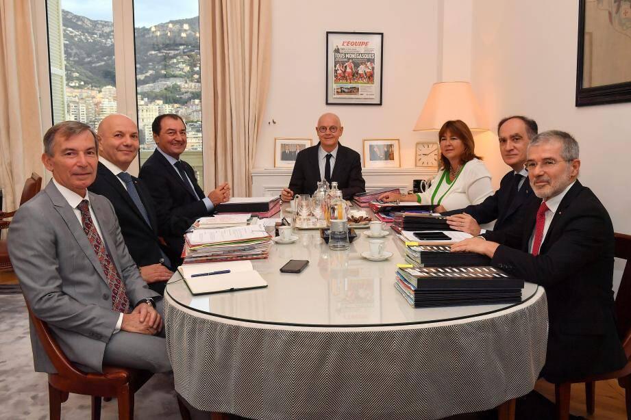 Le Conseil de gouvernement a accueilli Laurent Anselmi (2e à gauche), hier.
