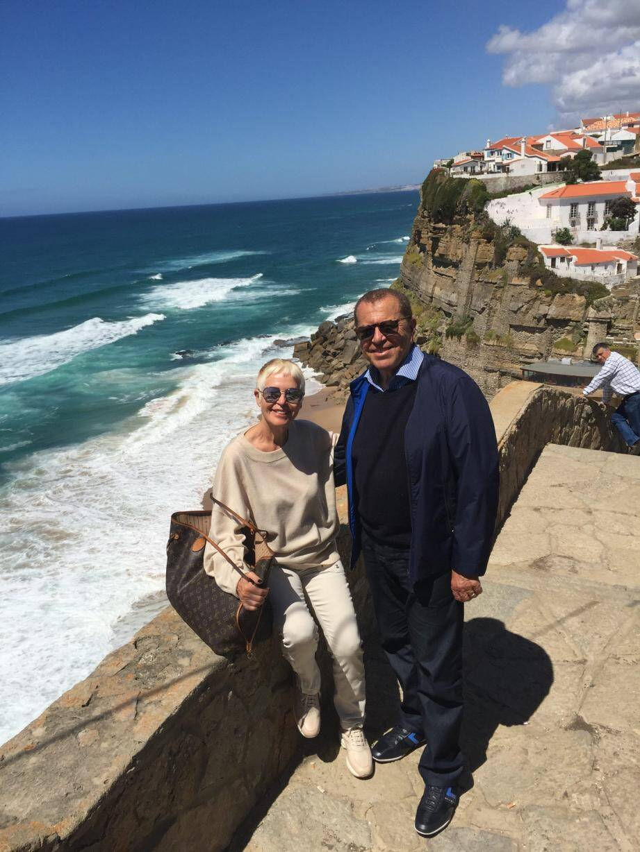 Paul et Raymonde Obadia en mai 2017 à Aznhas do Mar au Portugal : ça donne envie....(DR)