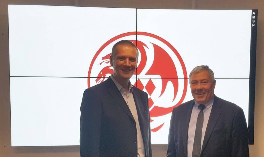 Guillaume Poupard, directeur général de l'ANSSI et Dominique Riban, directeur de l'AMSN.(DR)