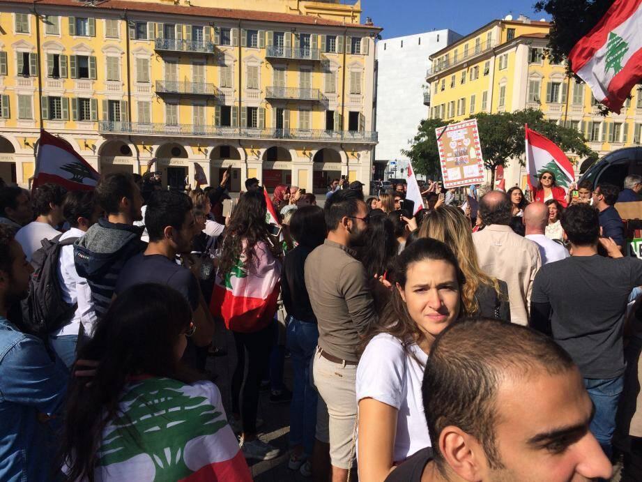 Manifestation, place Garibaldi.