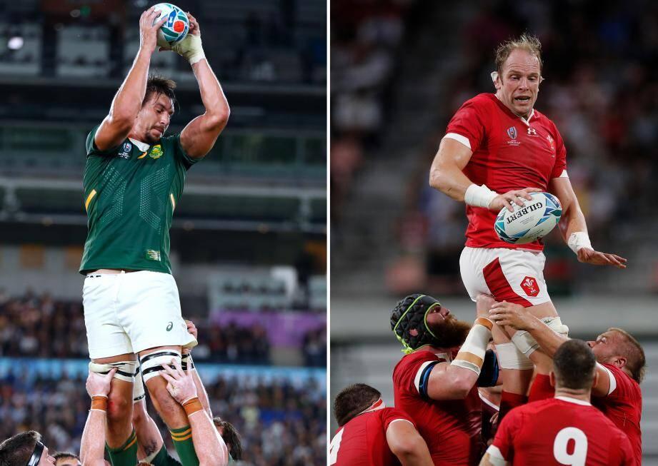 Qui d'Eben Etzebeth ou d'Alun Wyn Jones rejoindra l'Angleterre en finale, samedi prochain ? La bataille physique promet en tout cas de faire rage.