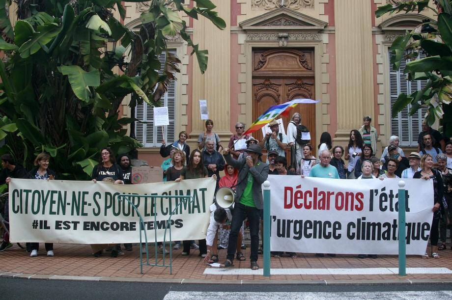 Lors de la dernière Marche pour le climat organisée à Menton.