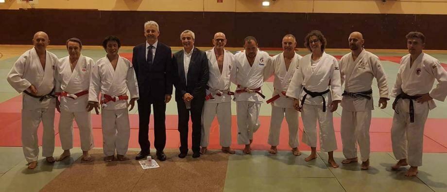 Les Vallauriens ont participé au dixième stage organisé par le judo club de Cagnes-sur-Mer.(DR)