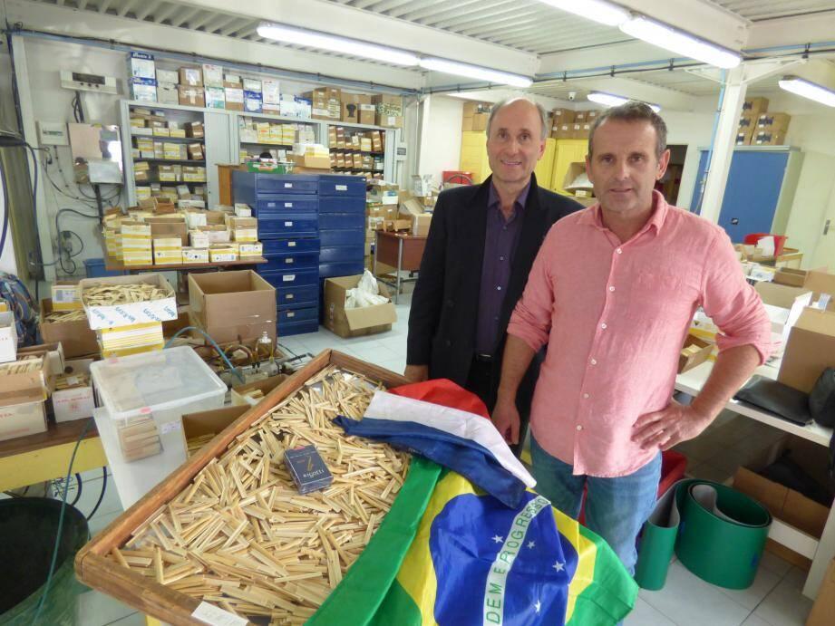 Les anches de Daniel Rigotti (à droite), s'exportent sur le continent sud-américain