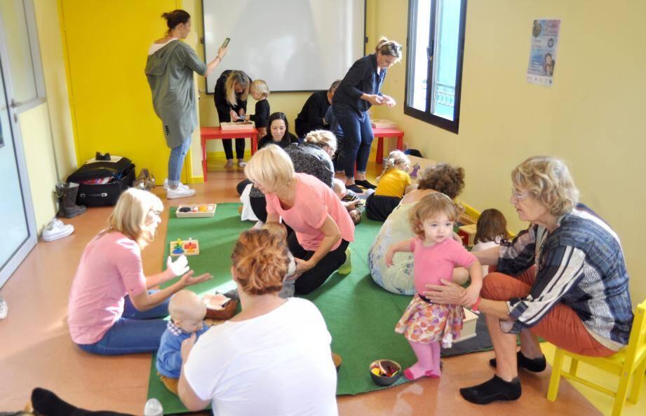 L'école Montessori est venue à la rencontre des petits à la Pension Magali.