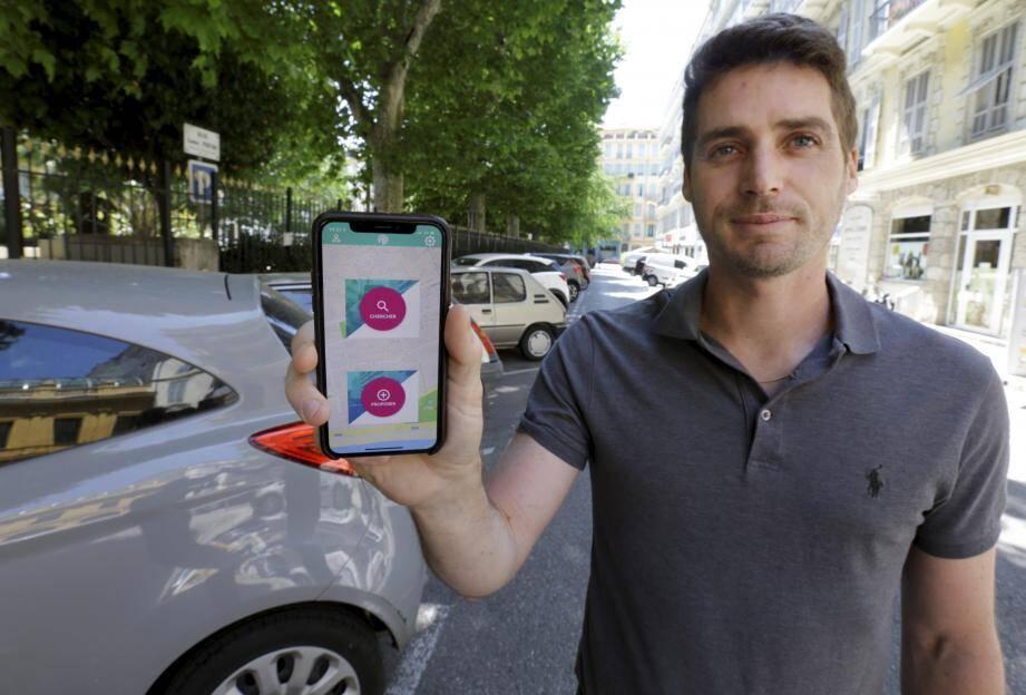 Cofondateur de Ready park, Jean-David Collard présente une application « simple avec deux boutons : chercher et trouver ».