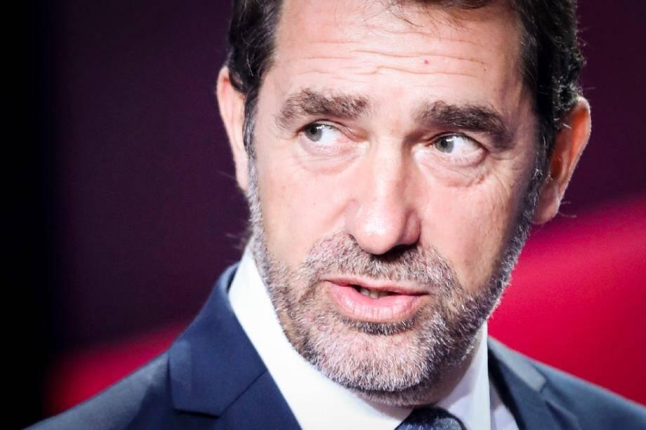 """Christophe Castaner lors de l'émission """"Vous avez la parole"""", sur France 2, à Saint-Cloud (Hauts-de-Seine) le 17 octobre 2019."""
