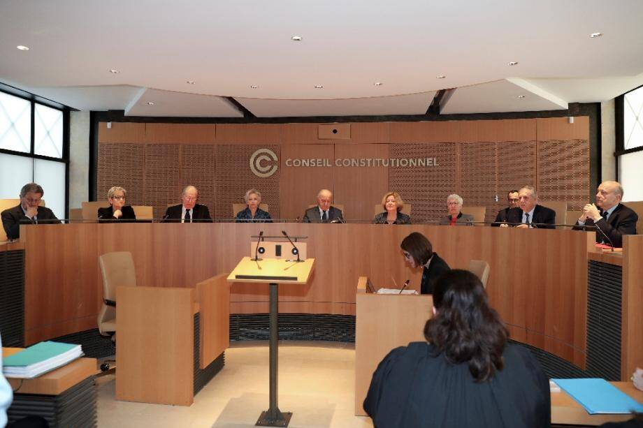 Le Conseil constitutionnel en audience le 12 mars 2019