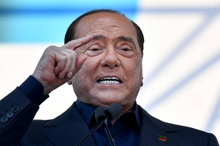 Le chef de Forza Italie, l'ancien Premier ministre italien, Silvio Berlusconi.