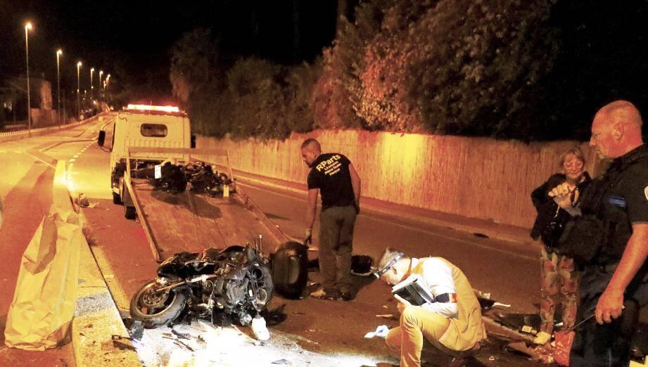 Le second motard de l'accident de Golfe-Juan est décédé