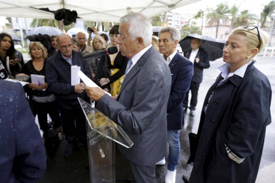 Mathieu Paoli -ici à Nice lors d'une cérémonie d'hommage aux victimes- a participé au rendez-vous.