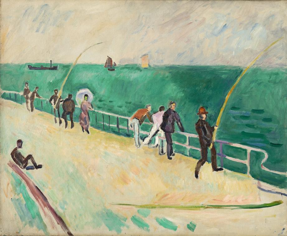 Raoul Dufy, Les Pêcheurs à la ligne, 1907. Huile sur toile 60×73 cm.