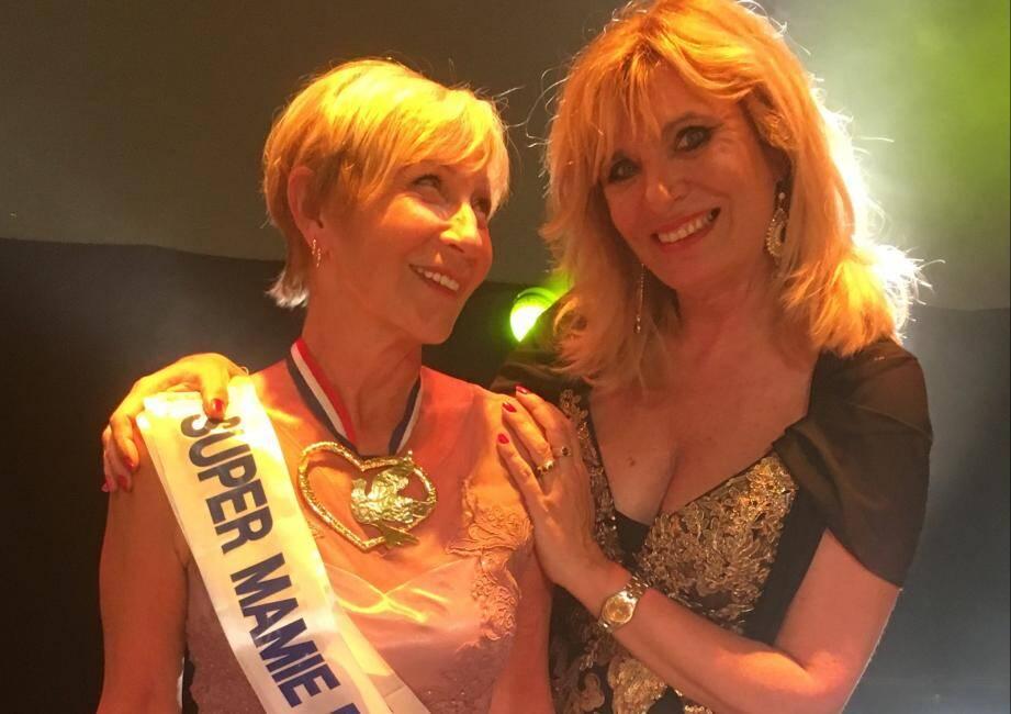 Rita Largillier, Super Mamie 2019 et la fondatrice du concours Fabienne Ollier.