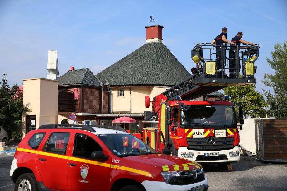 L'intervention des pompiers ce samedi..