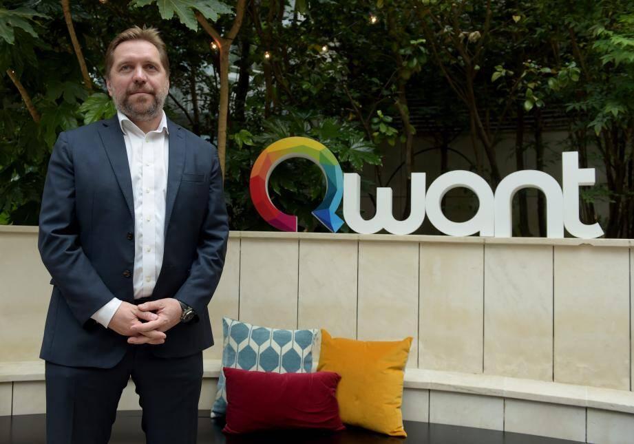 Eric Leandri, le fondateur du moteur de recherche azuréen,  Qwant