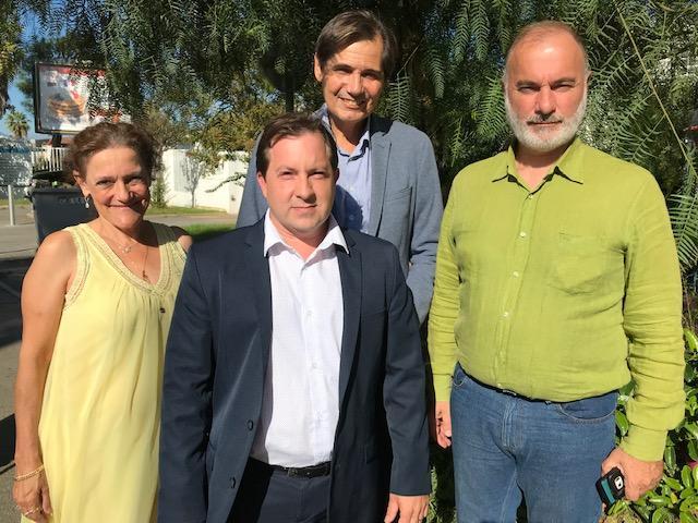 Quatre des six candidats déclarés de l'AEI : Eliette Trouche (Peymeinade), Stéphane Cassarini (Grasse), Patrice Miran (Vence) et Jean-Marc Governatori (Nice).