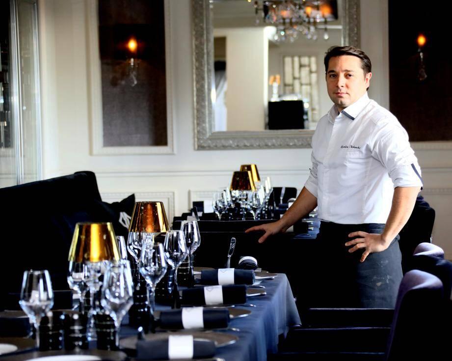 Le chef du restaurant une étoile au Guide Michelin, Nicolas Decherchi.