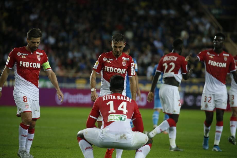 Les Monégasques mènent 2-0 contre l'OM.