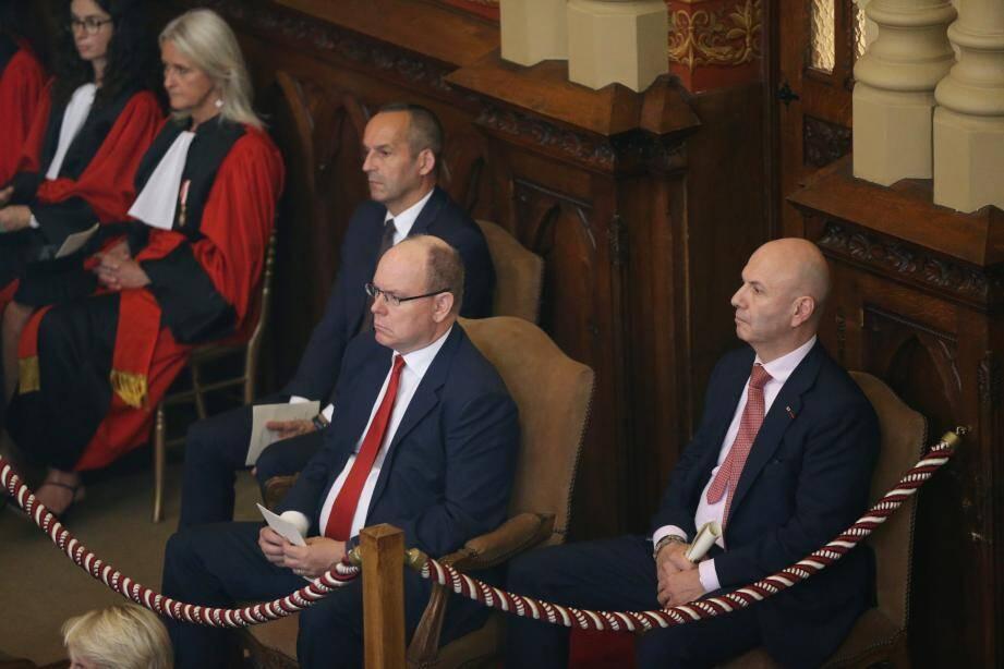 Audience solenelle de rentrée au Palais de Justice de la principauté de Monaco en présence du prince Albert II