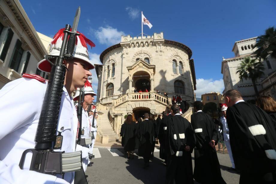 Audience solenelle de rentrée au Palais de Justice de la principauté de Monaco en présence du prince Albert