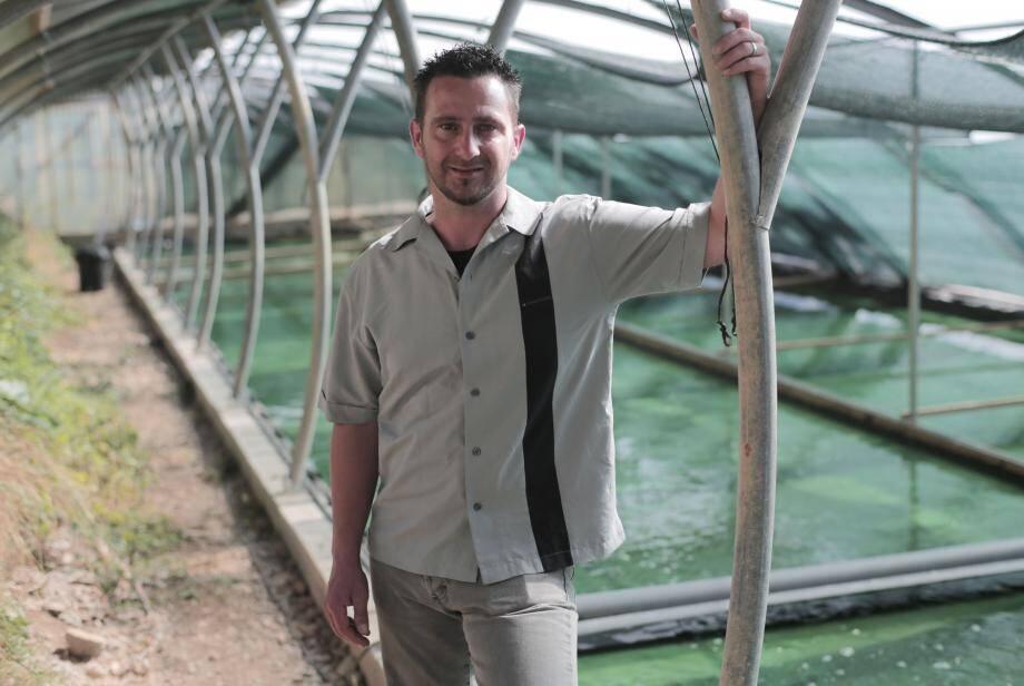 Hervé Le Guennec a construit des serres  bioclimatiques.