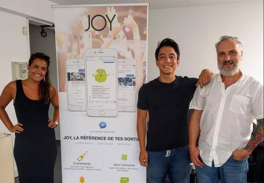 Fiers de Time N'Joy, startup incubée à Nice-Matin, sélectionnée par la Métropole pour le Web Summit de Lisbonne.
